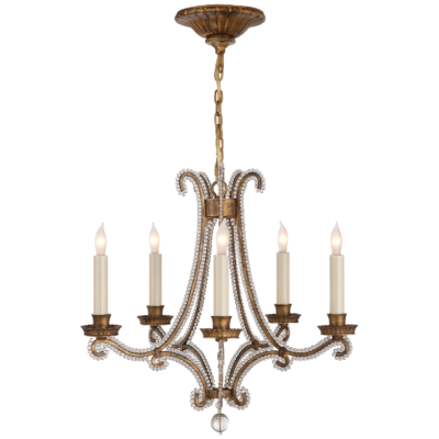low cost 438c1 df999 Oslo Mini Crystal Chandelier - Gilded Iron